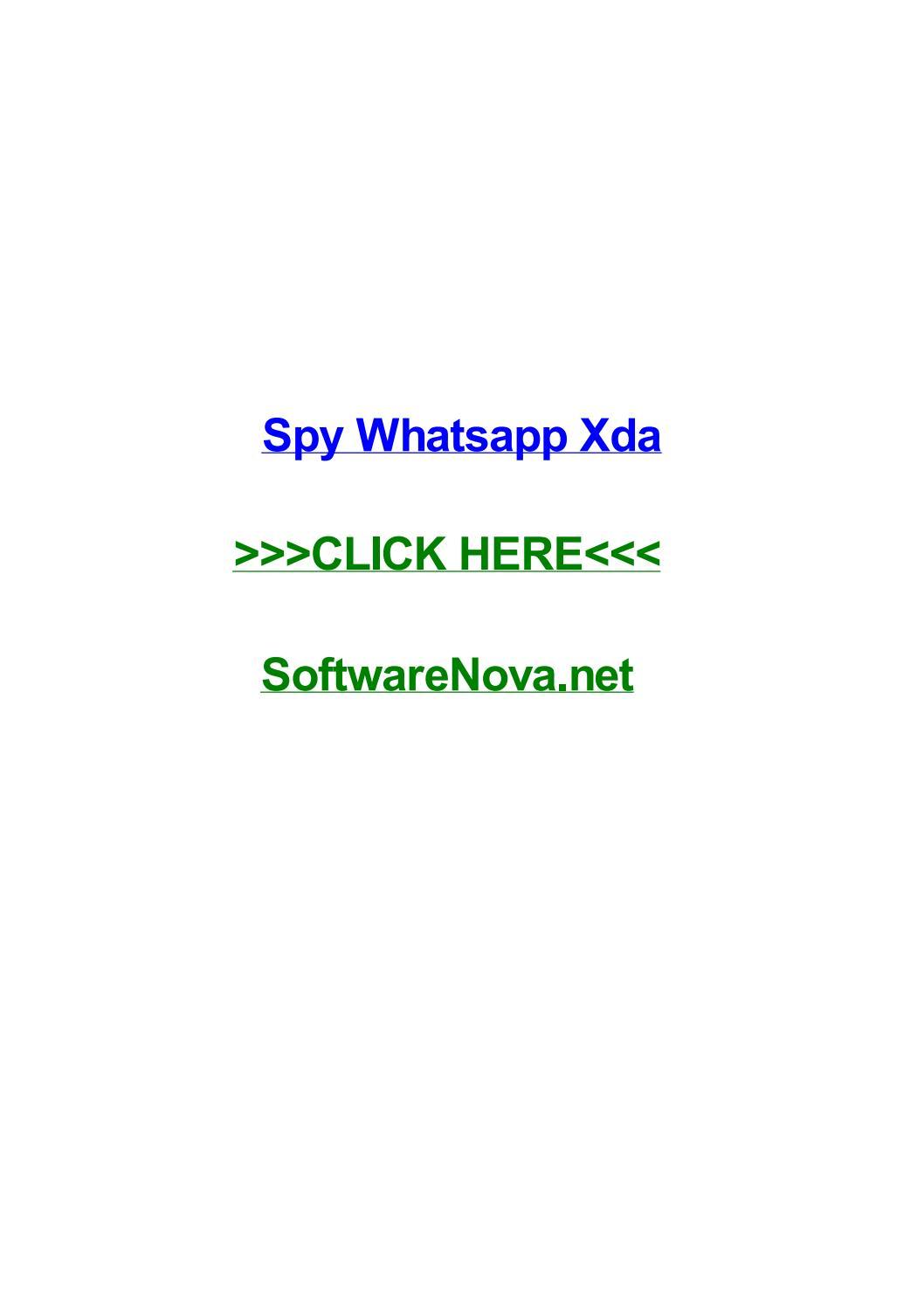 Spy whatsapp xda by saracymo - issuu