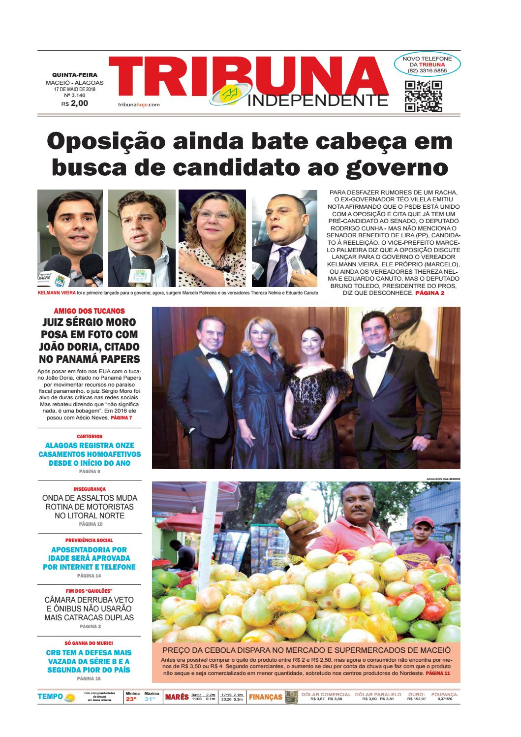 60e2ba89a Edição número 3146 - 17 de maio de 2018 by Tribuna Hoje - issuu