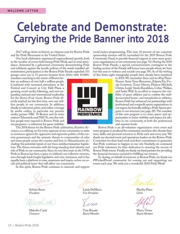 Page 14 of Celebrate and Demonstrate: Carrying the Pride Banner into 2018