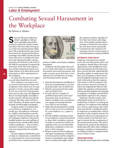 Page 18 of Combating Sexual Harassment in the Workplace