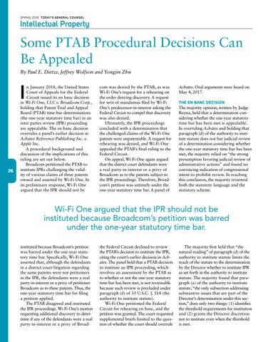 Page 28 of Some PTAB Procedural Decisions Can Be Appealed