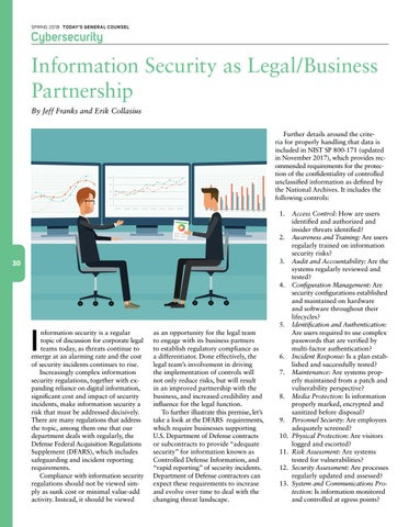 Page 32 of Information Security as a Legal/Business Partnership