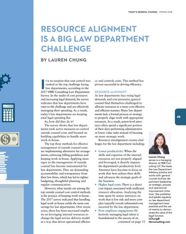 Page 51 of Resource Alignment is a Big Law Department Challenge