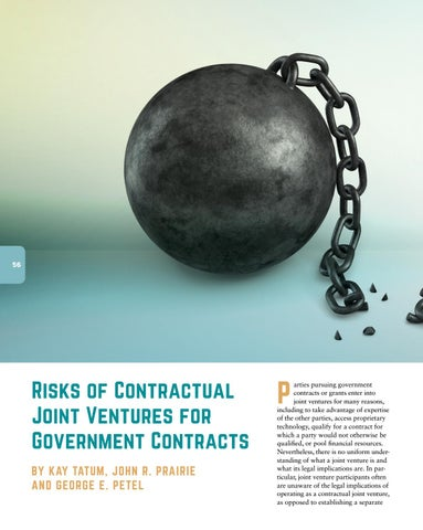 Page 58 of Risks of Contractual Joint Ventures for Government Contracts