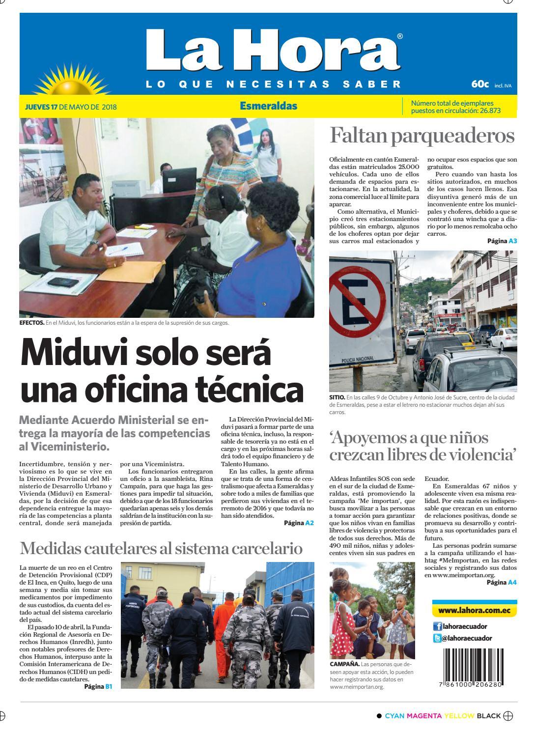 bc9cdbe1917a Esmeraldas 17 de mayo de 2018 by Diario La Hora Ecuador - issuu