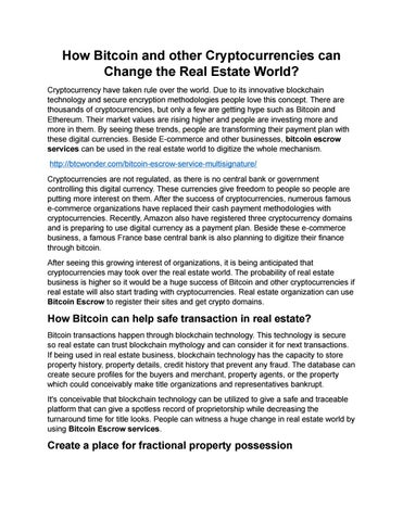 how to escrow cryptocurrency