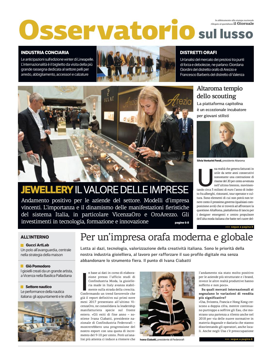 Oss Lusso - Maggio 2018 by Golfarelli Editore International Group - issuu 8f3bd27aa51
