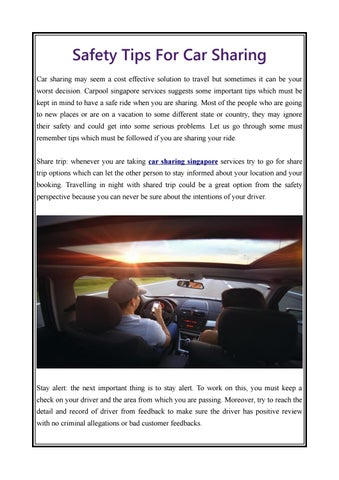 Safety Tips For Car Sharing