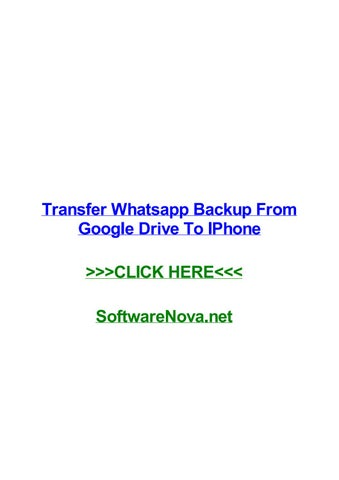 Transfer whatsapp backup from google drive to iphone by