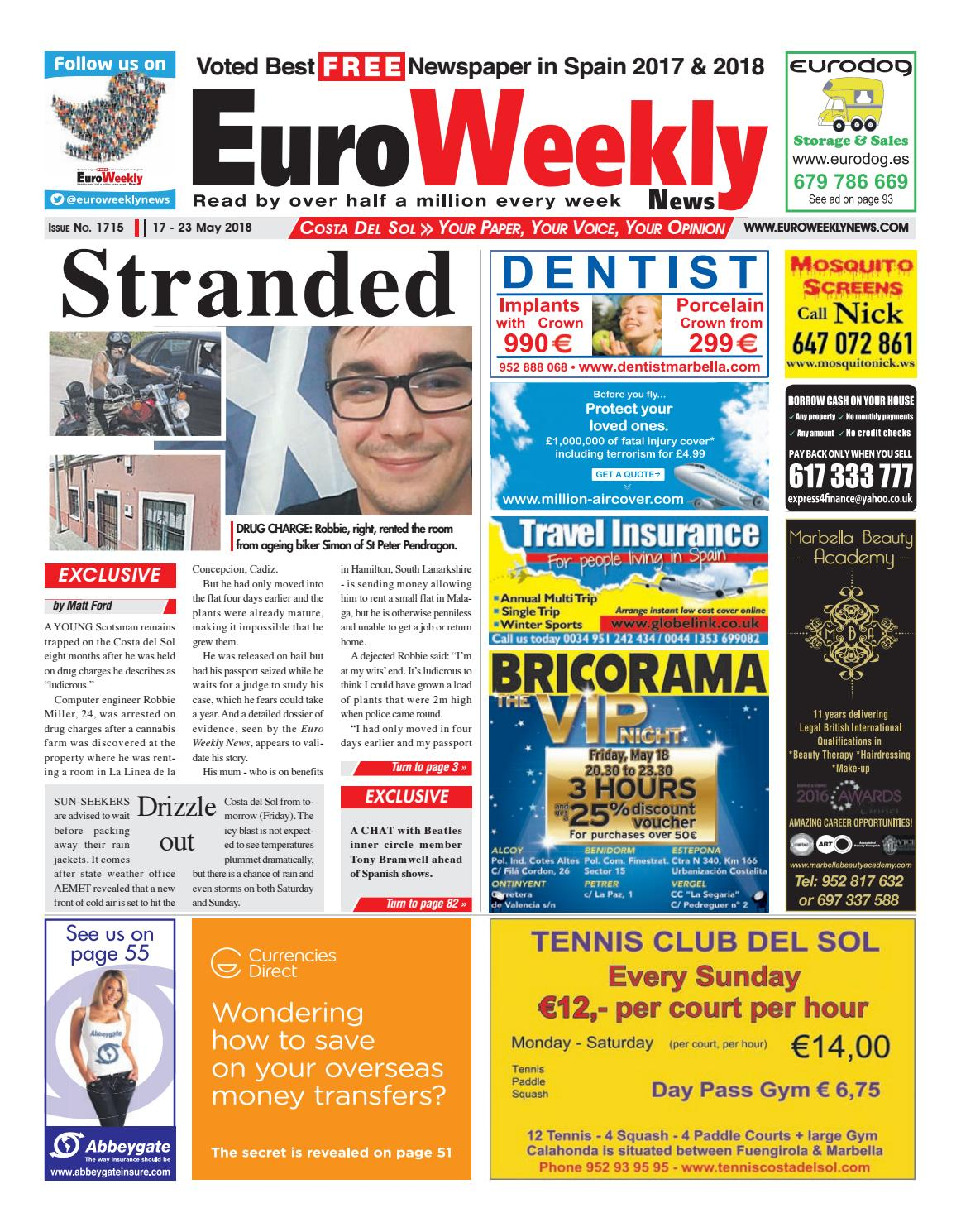 Euro Weekly News - Costa del Sol 17 - 23 May 2018 Issue 1715 by Euro Weekly News Media S.A. - issuu