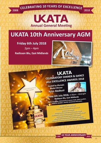 Page 17 of UKATA 10th Anniversary Celebratory Event 6th July 2018