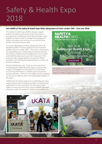 Page 9 of UKATA Attending Exhibitions During 2018