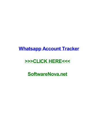 Whatsapp Account Tracker By Keenanaubv Issuu