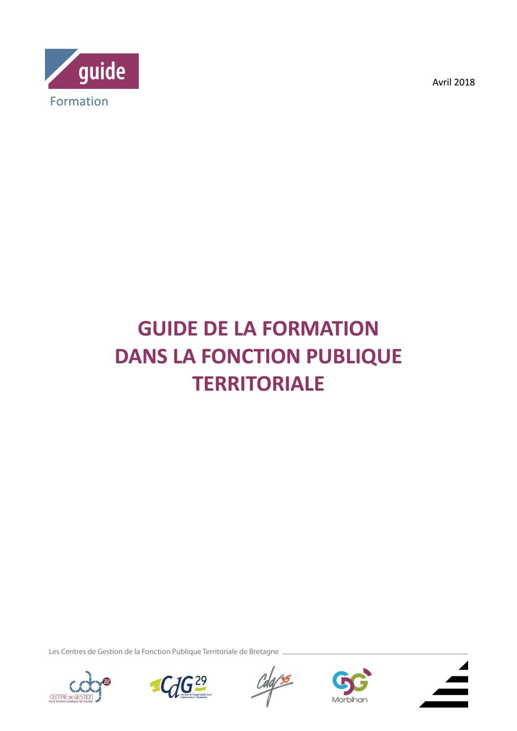 54f116243ac Guide de la formation dans la fonction publique territoriale by CDG 35 -  issuu
