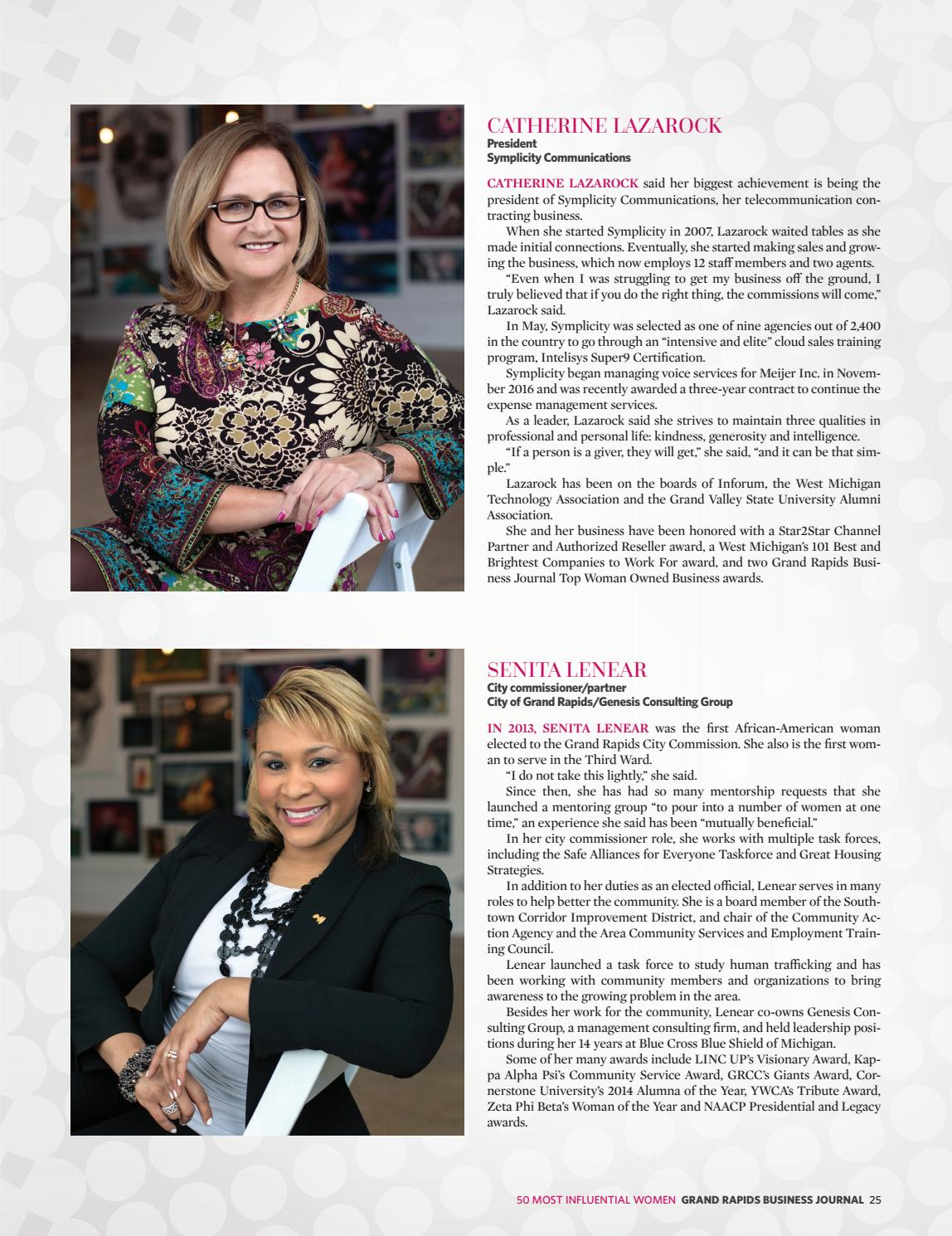 The 50 Most Influential Women in West Michigan - 2018 by