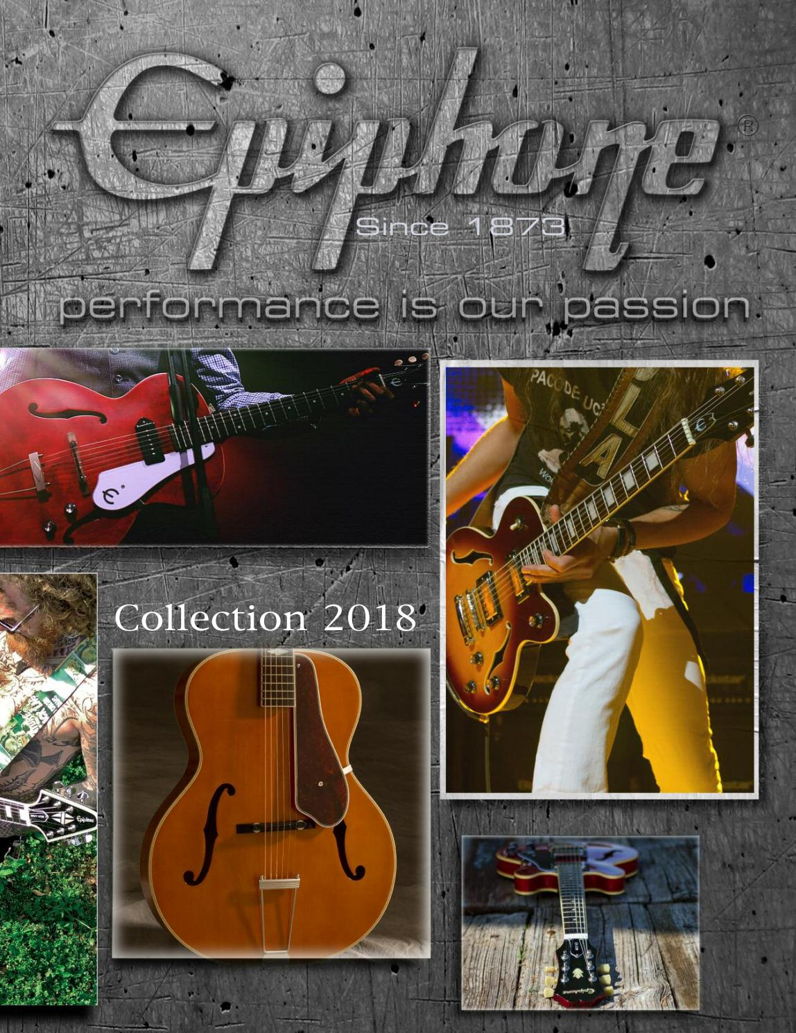 2018 Epiphone Catalog By Official Issuu Electric Guitar Wire Diagram 2 Volumms 1tone Humbuckers