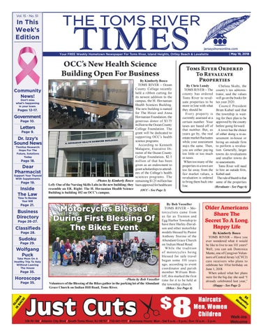 2018 05 19 The Toms River Times By Micromedia Publicationsjersey