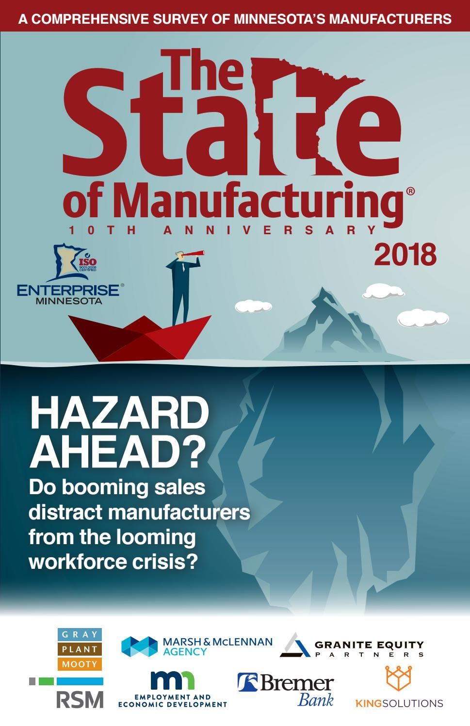 The State of Manufacturing® 2018 - Complete Survey Book by