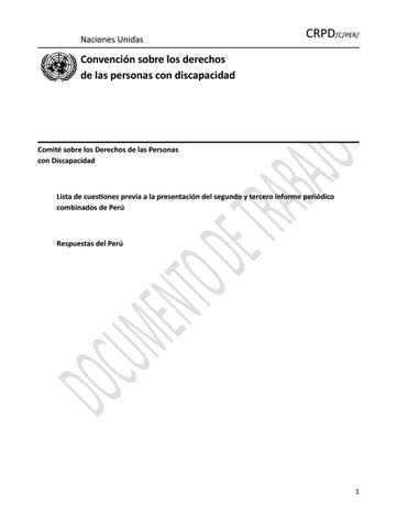 Propuesta de Informe de CONADIS a la ONU by Héctor Díaz