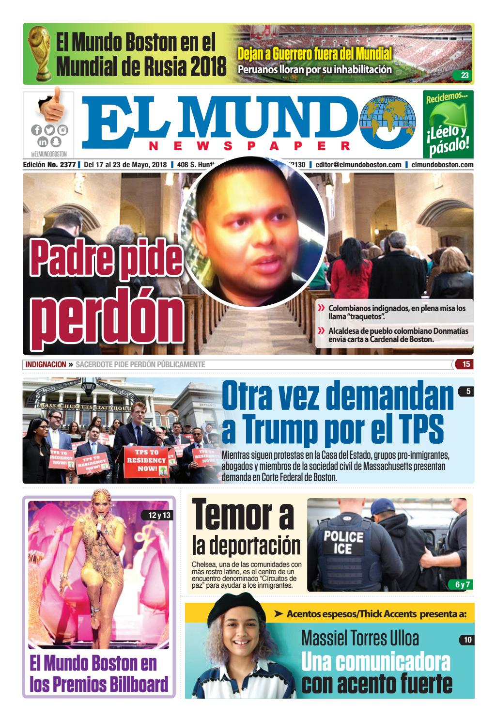 El Mundo Boston | Newspaper | May 17, 2018 by El Mundo Boston ...
