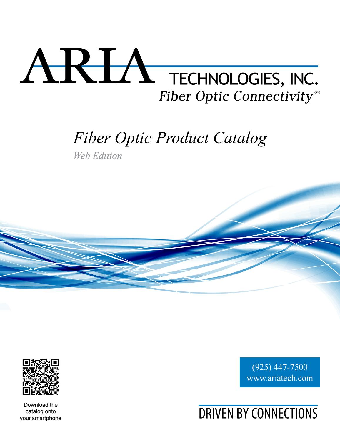 Aria Technologies Fiber Optic Product Catalog By Cablethe Global Solution In Components Issuu