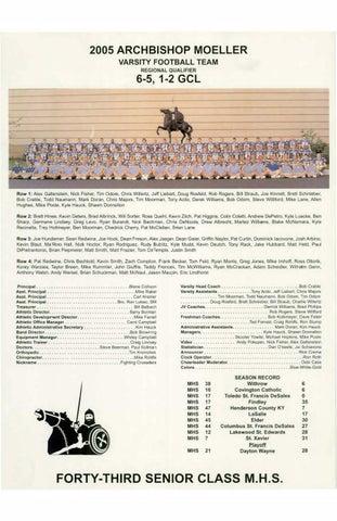Moeller High School 1999-2000 Football Articles by Archbishop Moeller High  School - issuu