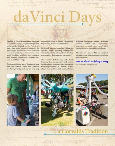 Page 19 of da Vinci Days & Other Festivals & Events