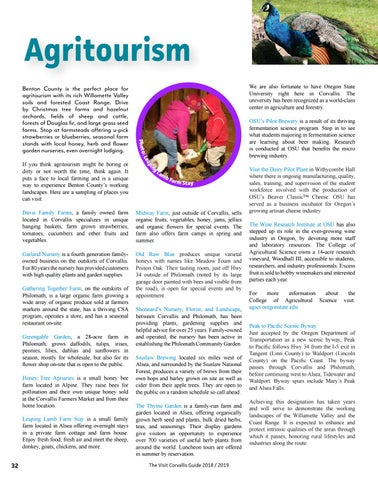 Page 32 of Agritourism in Benton County, Oregon
