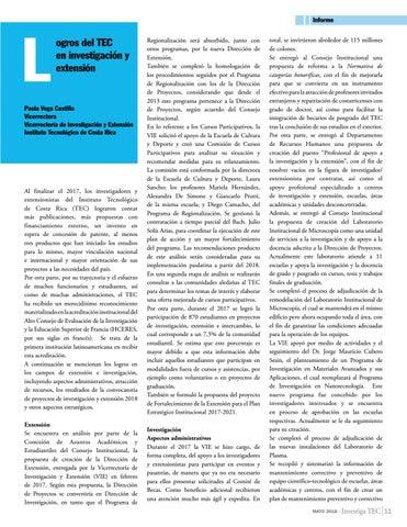 Page 11 of Logros del TEC en investigación y extensión