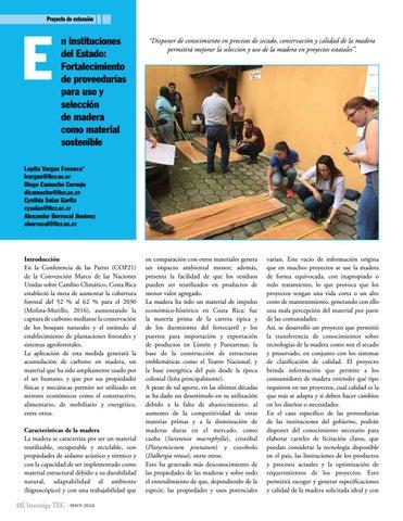 Page 16 of En instituciones del Estado: Fortalecimiento de proveedurías para uso y selección de madera como material sostenible