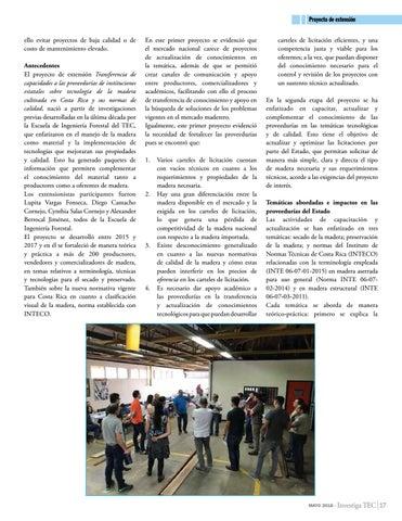 Page 17 of En instituciones del Estado: Fortalecimiento de proveedurías para uso y selección de madera como material sostenible