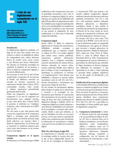 Page 19 of El reto de ser digitalmente competente en el siglo XXI