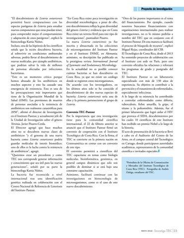 Page 23 of Científicos ticos descubren nueva bacteria