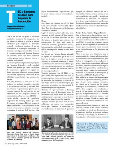 Page 24 of TEC y Samsung se alían para impulsar la innovación