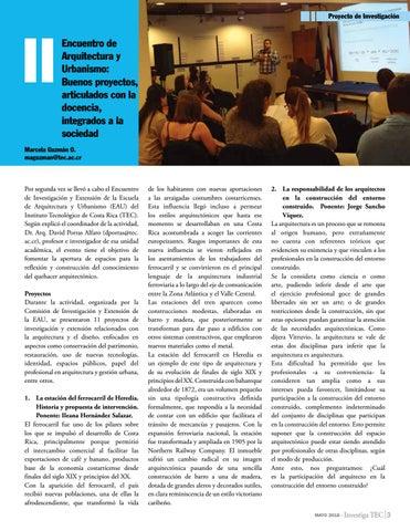 Page 3 of Encuentro de Arquitectura y Urbanismo: Buenos proyectos, articulados con la docencia, integrados a la sociedad