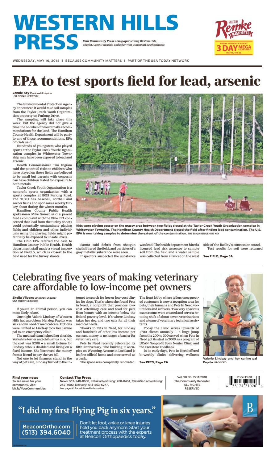 Western hills press 051618 by Enquirer Media - issuu