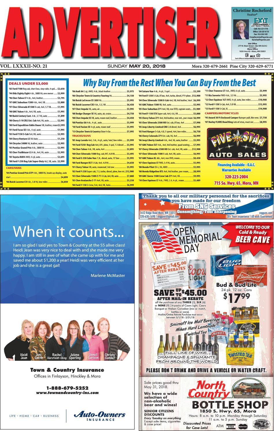 1b6120c293 Mora Advertiser 52018 by Kanabec County Times/Pine City Pioneer - issuu