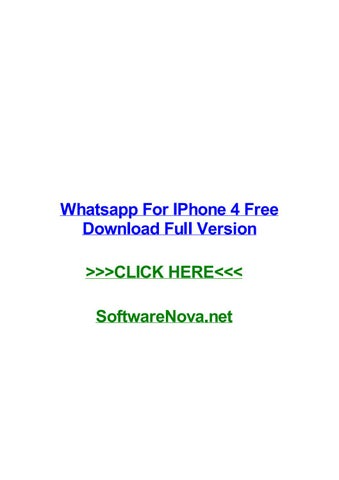 download whatsapp for iphone 4 free