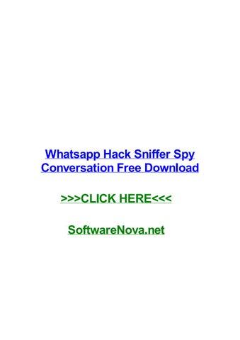 spiare whatsapp con hack sniffer
