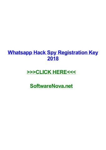 Whatsapp hack spy registration key 2018 by erichtzqv - issuu