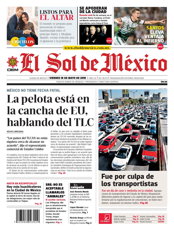 13692ff16cb4 El Sol de México 18 de mayo 2018 by El Sol de México - issuu