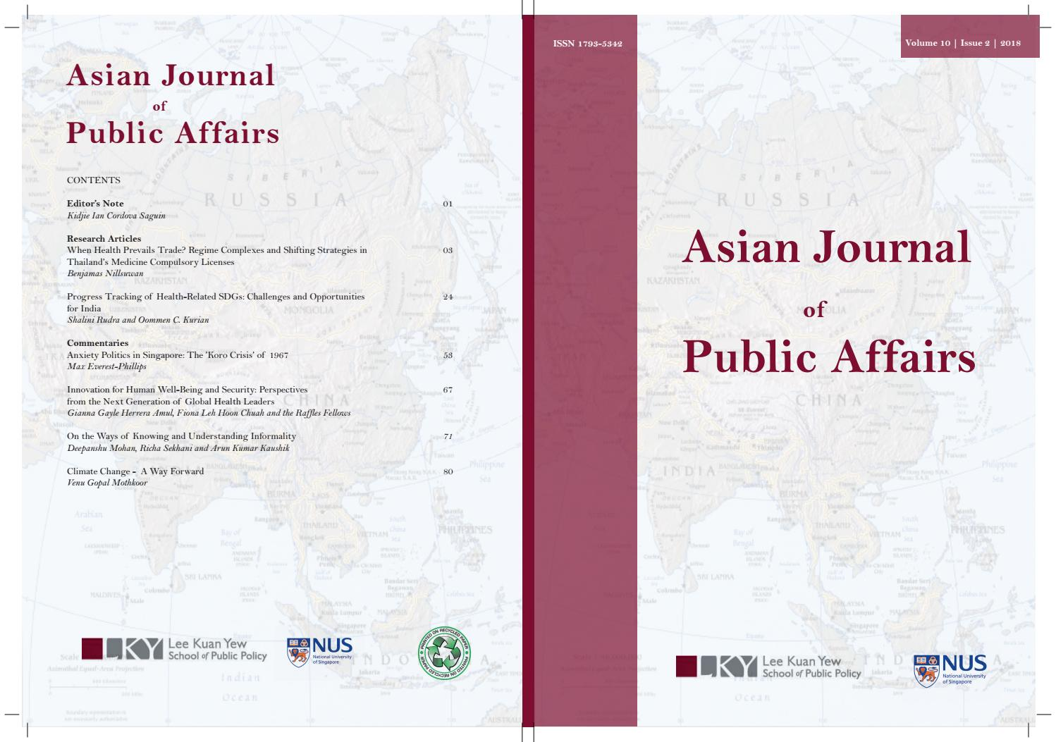 AJPA Vol 10 Issue 2 2018 by Lee Kuan Yew School of Public Policy, National  University of Singapore - issuu