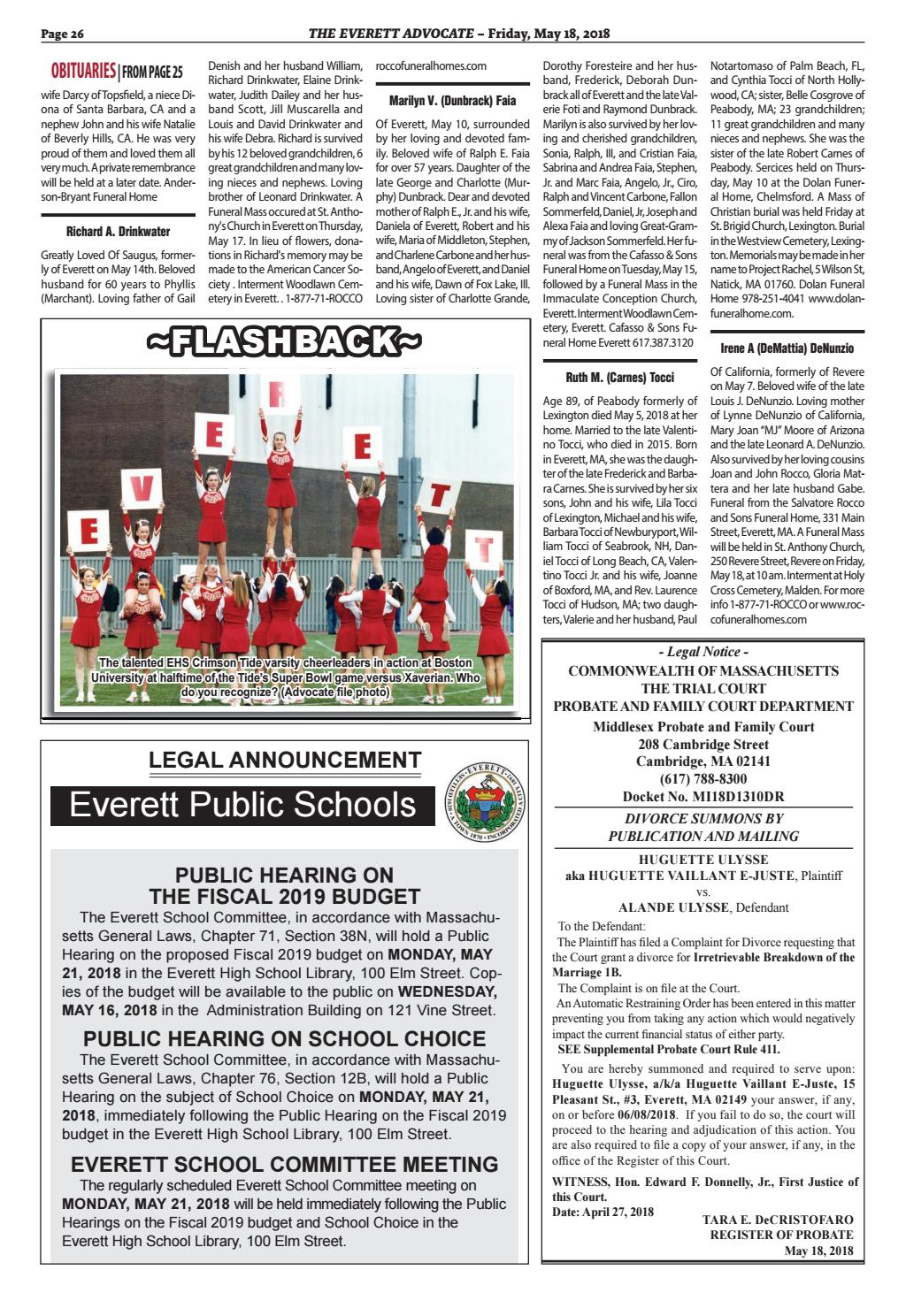 The Everett Advocate Friday May 18 2018 By Mike Kurov