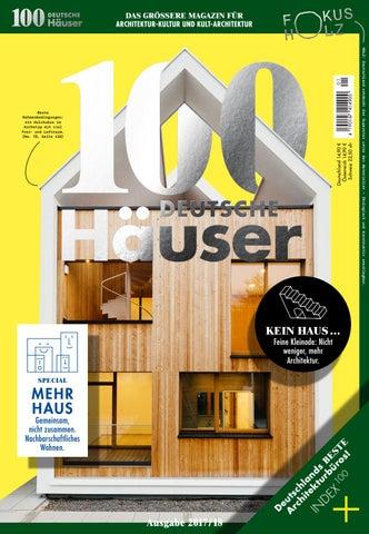 100 deutsche h user 2017 by 100 deutsche h user issuu for Holzkubus haus