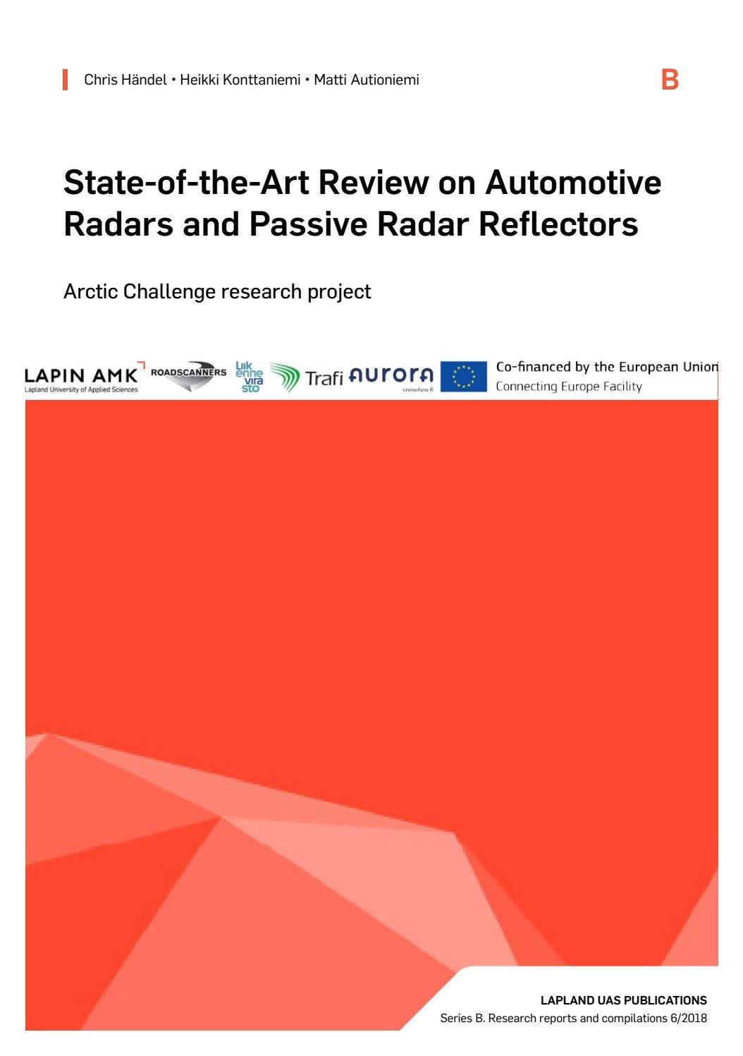 State of the art review on automotive radars and passive