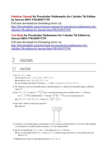 Solutions manual for precalculus mathematics for calculus