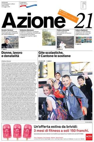 lowest price 2e2c3 105ea Azione 21 del 22 maggio 2018 by Azione, Settimanale di Migros Ticino ...