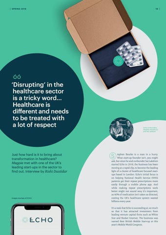 Page 19 of Disrupting healthcare - an interview with Echo