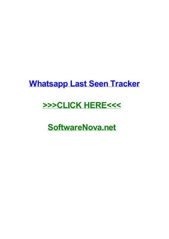 Whatsapp last seen tracker by chrisvicso - issuu