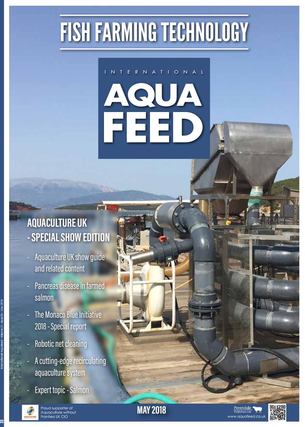 may 2018 international aquafeed magazine by perendale publishers